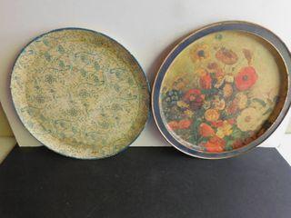 Tin Serving Platters  2 ea