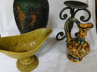 Decor lot Vases and Candle Holder