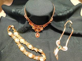 Gold Tone Necklaces  3 ea