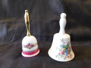 Porcelain Bells  2 ea