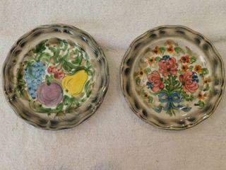 Decorative Display Plates  2 ea