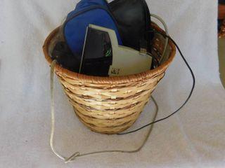 Basket Full of Items  Dog Brushes  Collars   More