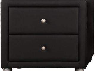 Upholstered 2 Drawer Nightstand
