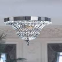 Silver Orchid Bergman 2 light Glass Ceiling light With Flush N a