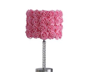 18 25  in Floral Roses Acrylic  Metal Table lamp