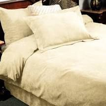 Oversized Micro Suede Saddle Three Piece Duvet Set