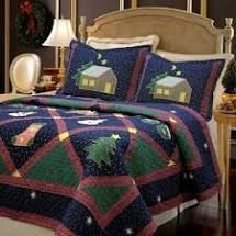 Cozy line Christmas Night Patchwork 3  Piece Quilt Set