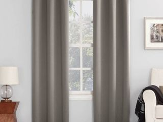 Pair of 120 x40  Kenneth Energy Saving Blackout Grommet Top Curtain Panel Gray   Sun Zero