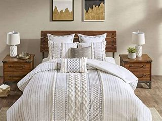 The Curated Nomad Natoma Cotton Jacquard 3 piece Duvet Cover Set Retail 104 93