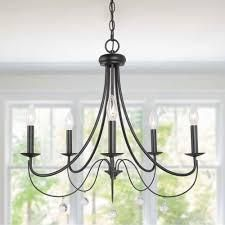 Modern Farmhouse 5  lights Candle Chandelier