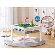UTEX 2 in 1 Kids Activity lego Table Set