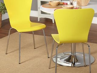 Pisa Bentwood Chair  Set of 2  Yellow