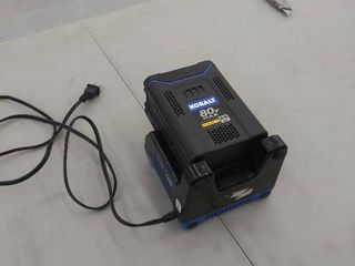 Kobalt 80V max lithium ion 2 5Ah battery and charger
