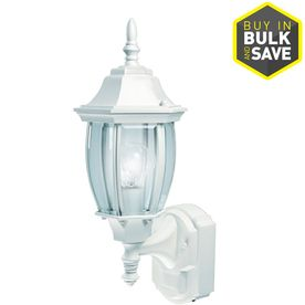Secure Home Alexandria 18 5 in H White Motion Activated Outdoor Wall light