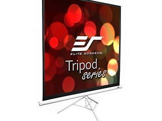 Elite Screens Tripod Series  99 INCH 1 1  Adjustable Multi Aspect Ratio Portable Indoor Outdoor Projector Screen  8K   4K Ultra HD 3D Ready  2 Year Warranty  T99NWS1   Not INSPECTED