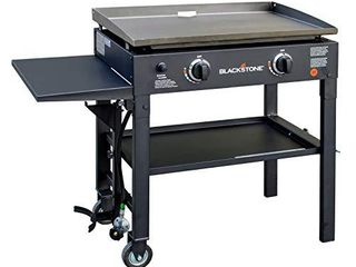 Blackstone 28 inch Outdoor Flat Top Gas Grill Griddle Station   2 burner   Propane Fueled   Restaurant Grade   Professional Quality
