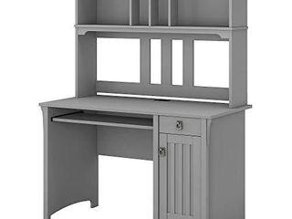 Bush Furniture Salinas Small Computer Desk with Hutch  Cape Cod Gray