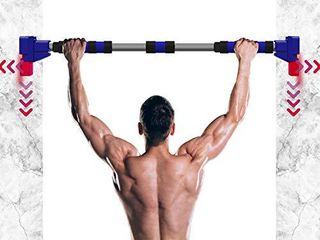 Pull Up Bar for Doorway Chin Up Bar No Screws Home Pullup Bar with Safety locking Catch Portable Stainless Steel Upper Body Workout Bar for Home Gym Exercise Adjustable 70 90cm 27 35  Horizontal Bar