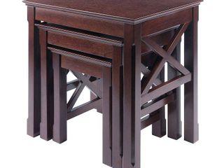 Xola 3 Piece Nesting Table   Cappuccino   Winsome