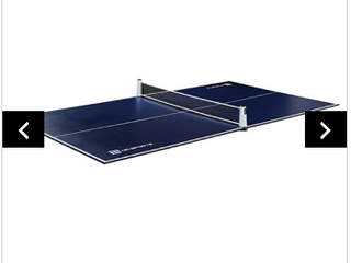 MD SPORTS TABlE TENNIS CONVERSION TOP WITH RETRACTABlE NET   Not INSPECTED