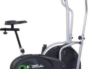 Body Rider Elliptical Trainer and Exercise Bike with Seat and Easy Computer   Dual Trainer 2 in 1 Cardio Home Office Fitness Workout Machine
