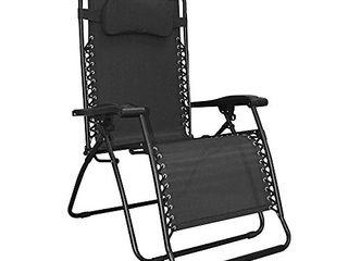 Caravan Sports Infinity Oversized Zero Gravity Chair  Black   Not INSPECTED