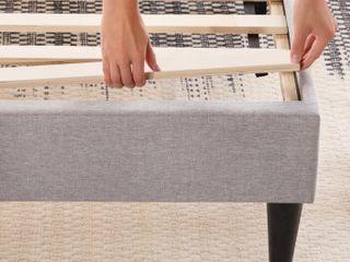 Upholstered Platform Bed Frame Queen Not fully Inspected