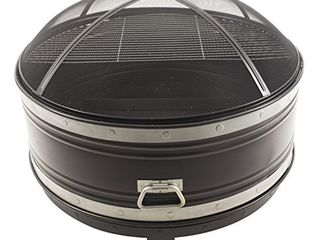 Pleasant Hearth OFW651R Colossal Fire Pit  Black