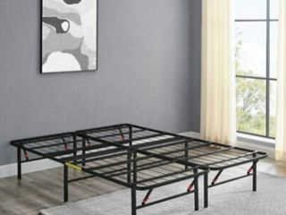 amazon Basics Platform Bed Frame  Black  Queen     Not INSPECTED