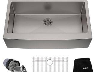 Kraus 36 inch Farmhouse Apron Single Bowl 16 gauge Stainless Steel Kitchen Sink