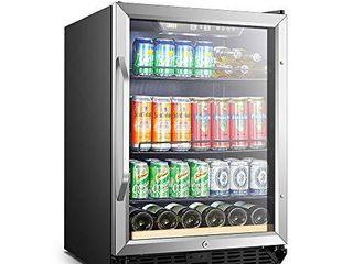 lanbo Beverage Refrigerator  110 Cans 6 Bottles Built in Compressor Drink Fridge DAMAGED