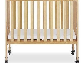 Dream On Me 2 in 1 Folding Birch Portable Crib  Natural