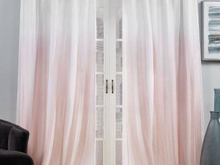 Pair of 54x84   Blush  ATI Home Crescendo lined Blackout Hidden Tab Curtain Panel Pair