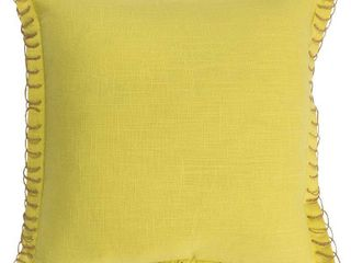 lime Green  Rizzy Home Solid 18 X18  Polyester Filled Pillow
