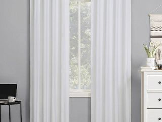 Pair of 84 x40  Cyrus Thermal 100  Blackout Back Tab Curtain Panel White   Sun Zero