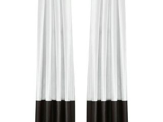 Porch   Den lapeyrous Black and White 84 Inch Curtain Panels  Set of 2