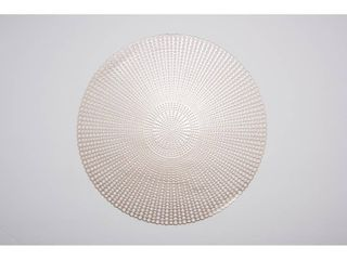 Champagne   16 inches round  Brocade Placemat