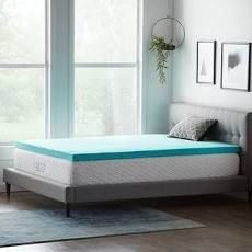 lucid Comfort Collection 3 Inch Gel Memory Foam Topper   Blue Retail 76 98