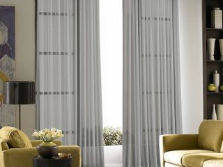 Pair of Closeout  Chf Sheer Soho Voile Grommet 59  x 108  Panels