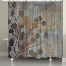 71x74  laural Home Bronze Gold Spa Shower Curtain  71 inch x 74 inch  Retail 123 98