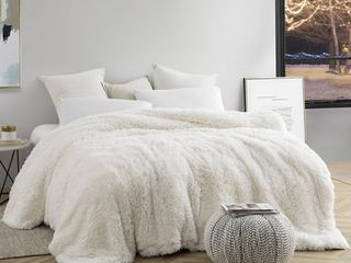 Queen  Are You Kidding Coma Inducer White Duvet Cover Retail 112 49