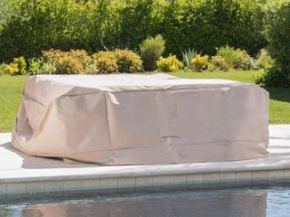Shield Outdoor Waterproof Fabric Chat Set Patio Cover by Christopher Knight Home  Retail 94 49