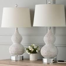 Beaded 27 5 inch Table lamp  Set of 2  B