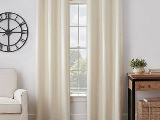 63 Inches   Ivory  Eclipse Gabriella Absolute Zero Max Blackout Window Panel