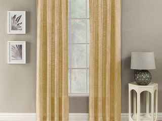 PAIR of Channon Window Curtain  Yellow  50X108