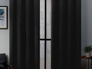 Exclusive Home Curtains 2 Pack Sateen Woven Blackout Grommet Top Curtain Panels