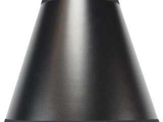 Null  5x10x8 5 Black Parchment Empire lampshade
