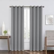 Pair of Eclipse Blackout Window Curtains  Gray