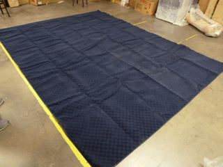 9  x 12  Navy Blue Checkered Area Rug