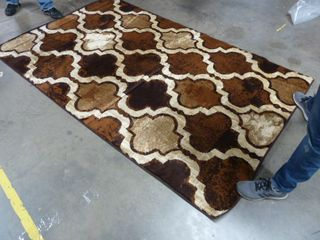 5  x 8  Brown Pattern Area Rug